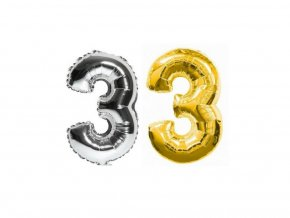 3494 nafukovaci cislo 3 stribrne zlate 85 cm