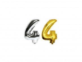 3533 nafukovaci cislo 4 stribrne zlate 40 cm