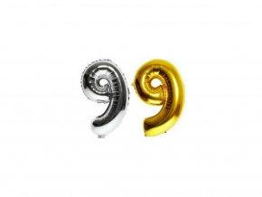 3518 4 nafukovaci cislo 9 stribrne zlate 40 cm