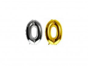 3548 nafukovaci cislo 0 stribrne zlate 40 cm