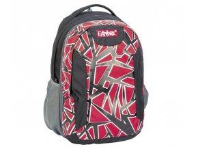 Batoh školní EXPLORE 2v1, s červenými dílky