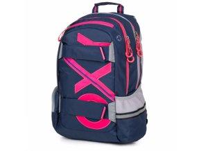 Batoh školní OXY modro-růžový