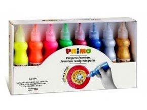 Barvy temperové, 8 barev, 50ml , Primo