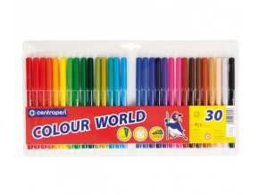 Fix CENTROPEN 7550, sada 30 barev, trojhranné