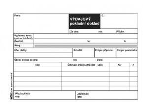 027 - Výdajový pokladní doklad - bez DPH
