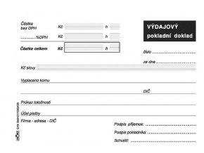 043 - Výdajový pokladní doklad - pro daňový doklad