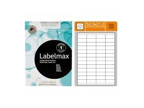 Etikety samolepící, (52,5x21,2mm), 56 etiket