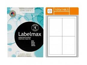 Etikety samolepící, (105x148mm), 4 etikety