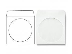 Obálka dopisní, CD ROM s okýnkem, 125x125mm