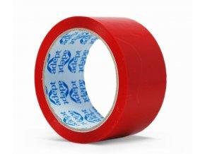 Lepící páska, 48mm x 66m, červená, ADEPT
