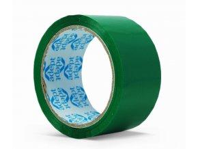 Lepící páska, 48mm x 66m, zelená, ADEPT