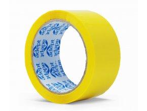 Lepící páska, 48mm x 66m, žlutá, ADEPT