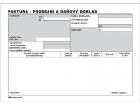 003 - Faktura - prodejní a daňový doklad