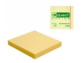 Bloček samolepící, 100 listů, žlutý, 76x76mm