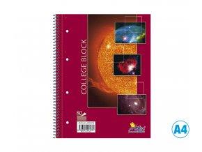 Blok COLLEGE, čistý, A4, 80 listů, 14080/2b