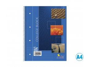 Blok COLLEGE, linkovaný, A4, 80 listů, 14084/2b