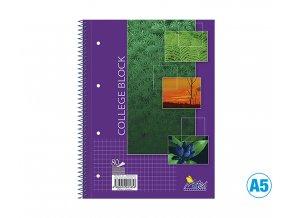 Blok COLLEGE, čtverečkovaný, A5, 80 listů, 15085/2b