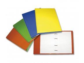 Kroužkový blok, linkovaný, A5, 100 listů, plastový barevný