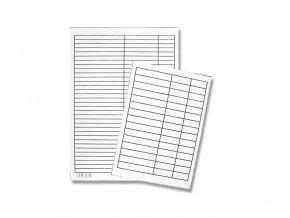 Podložka papírová, linkovaná, A4, LENOCH