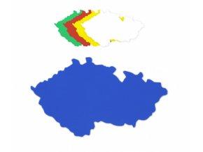 Mapa ČR plastová, šablona