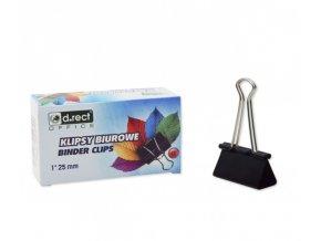 Binder clip, D.RECT, 25mm, 12ks