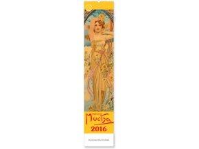 Kalendář 2016 - Alfons Mucha, (10,5x48cm)