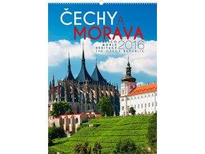 Kalendář 2016 - Čechy a Morava, památky UNESCO, 33x46cm
