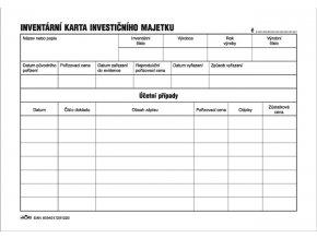 122 - Inventární karta investičního majetku