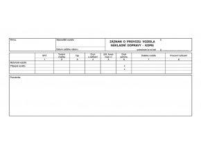 139 - Záznam o provozu vozidla ND - kopie