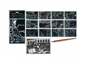 Obrázek škrábací - 15x10cm, se stříbrným hologramem