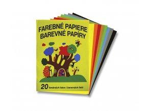 Papír - A4, barevný, sada 20 listů