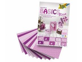 Papír KREATIV - sada 10x10x10 listů, růžová