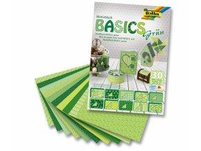 Papír KREATIV - sada 10x10x10 listů, zelená