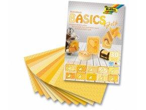 Papír KREATIV - sada 10x10x10 listů, žlutá