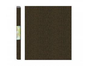 Papír - krepový, hnědý tmavě