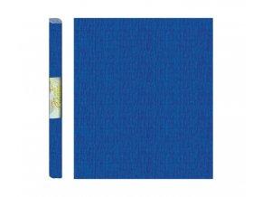 Papír - krepový, modrý tmavě