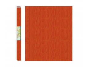 Papír - krepový, oranžový