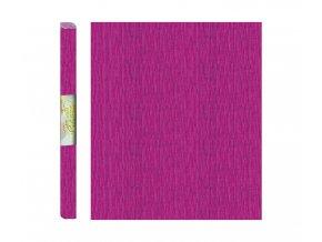 Papír - krepový, růžový tmavě