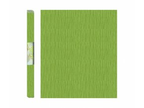 Papír - krepový, zelený bledě