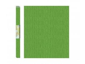 Papír - krepový, zelený světle