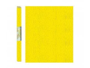 Papír - krepový, žlutý světle