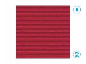 Papír - vlnitý, červený