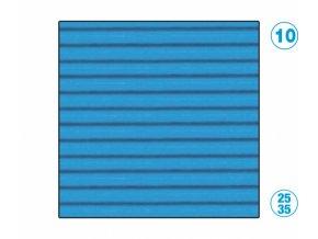 papír - vlnitý, modrý světle