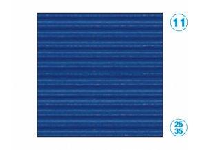 papír - vlnitý, modrý tmavě