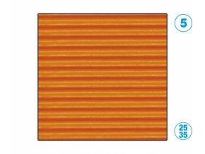 papír - vlnitý, oranžový