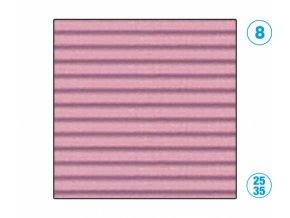 Papír - vlnitý, růžový