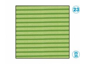 Papír - vlnitý, zelený světle