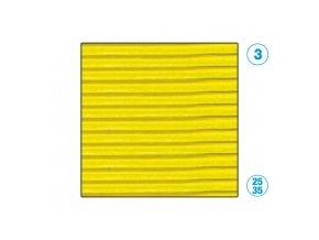 Papír - vlnitý, žlutý