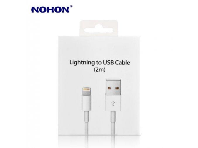 NOHON DATOVÝ KABEL USB S KONEKTOREM LIGHTNING 2M