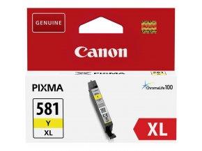 cartridge canon cli 581xl y cli 581xly 2051c001 originalni zluta